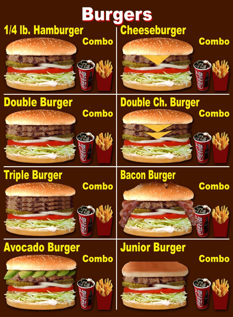 BURGERS & COMBO 01 (no prices)